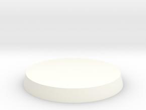 Mini Base Bevel Edge D25 (flat) (full) in White Strong & Flexible Polished