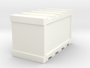 De Agostini Smaller cargo bay Crate  in White Strong & Flexible Polished