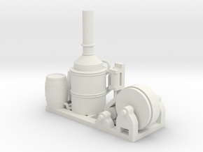 Steam Donkey - HO 87:1 Scale in White Strong & Flexible