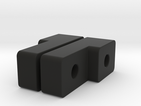 Adapter in Black Natural Versatile Plastic