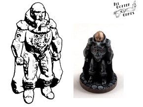 Praetor Kail, 28mm Miniature in White Natural Versatile Plastic
