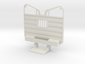 1/32 Detailed Waffle type Cab Guard Headache Rack in White Natural Versatile Plastic