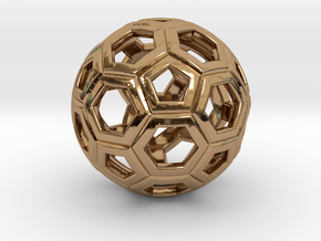 Soccer Ball 1 Inch in Polished Brass