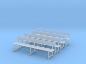 Wrought Iron station bench (HO) in Smoothest Fine Detail Plastic