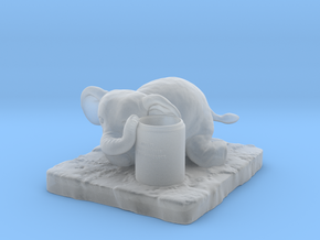 Elephant Pen holder in Smooth Fine Detail Plastic
