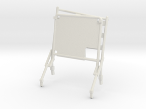 02D-LRV - Open Right Seat in White Natural Versatile Plastic