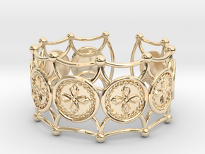 Crux Bracelet in 14K Yellow Gold