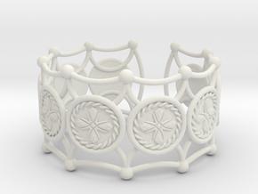 Crux Bracelet in White Natural Versatile Plastic