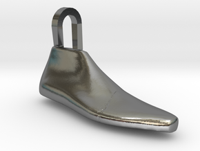 Pendant Shoe Last in Polished Silver