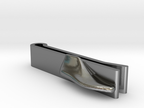 Tie-Clip Shoe Last in Polished Silver