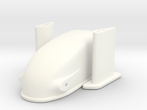 1/24 Dragster Nose in White Processed Versatile Plastic