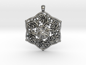 PENDANT 1 3 in Polished Silver