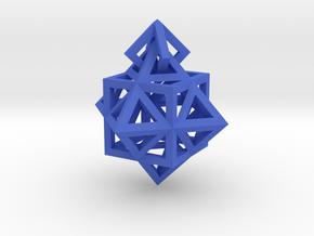 Gamma Star Earring in Blue Processed Versatile Plastic
