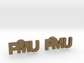 Monogram Cufflinks PMU in Polished Bronze