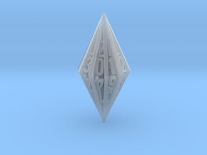 Radial Fin Dice in Smooth Fine Detail Plastic: d20
