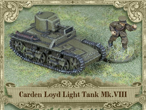 Carden Loyd Light Tank Mk.VIII (1:100 scale) in White Natural Versatile Plastic