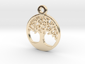 Tree Of Life Pendant in 14k Gold Plated Brass