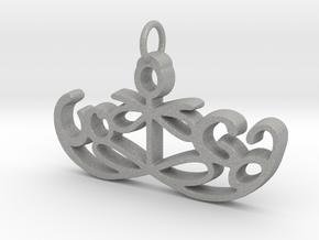 Yoga Glee Pendant Symbol and Text in Aluminum