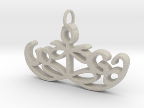 Yoga Glee Pendant Symbol and Text in Natural Sandstone
