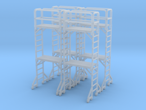 Scaffold 02. HO Scale (1:87) in Smooth Fine Detail Plastic