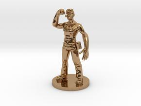 Popeye Toy in Polished Brass