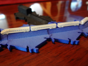High Speed Train Set (track not included) in Smooth Fine Detail Plastic
