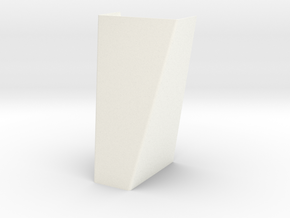 Rektanglar Wall lamp in White Processed Versatile Plastic