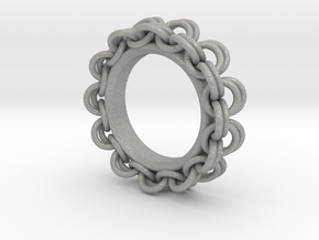 Chainmail Ring Pendant in Aluminum