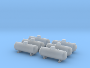 Propane tank 500 gallon. N Scale (1:160) in Smoothest Fine Detail Plastic