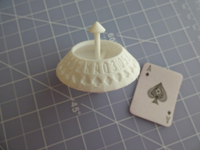 d52 Random Card Generator (Playing Card Axle Die) in White Processed Versatile Plastic