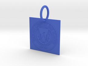 PCDS Pendant/Keychain in Blue Processed Versatile Plastic