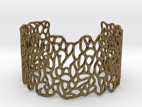 Cuff 'Patterns' in Polished Bronze