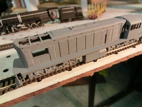 NZ120 Tranzrail QR (1502 class) in Smooth Fine Detail Plastic