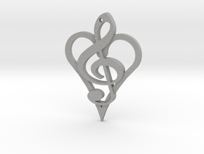 Music From The Heart Pendant in Aluminum