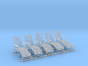 1/96 Deck Chairs (United States Lines) in Frosted Ultra Detail