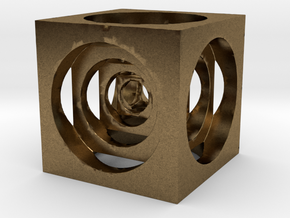 AWESOME CUBE in Natural Bronze