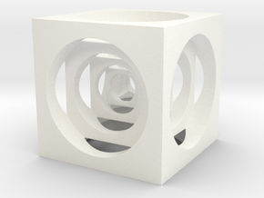 AWESOME CUBE in White Processed Versatile Plastic