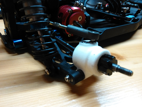 B5M Rear hubs 2mm height offset in White Strong & Flexible