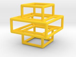 Plus Pendant in Yellow Processed Versatile Plastic