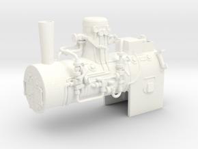 Boiler Henschel steam tram 1:45 in White Processed Versatile Plastic