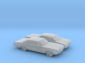 1/160 2X 1971-72 Dodge Polara Coupe in Frosted Ultra Detail
