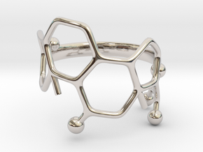 Cortisol Ring - Size 7  in Rhodium Plated Brass