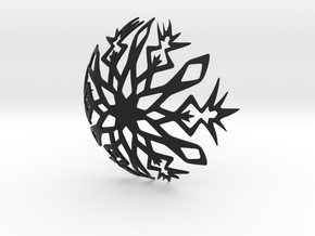 Snowflake bowl in Black Natural Versatile Plastic