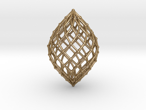 0516 Polar Zonohedron V&E [11] #002 in Polished Gold Steel