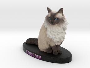 Custom Cat Figurine - Foofsie in Full Color Sandstone
