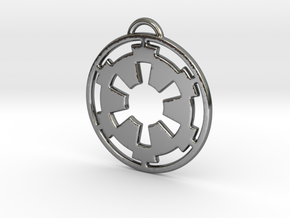 Imperial keychain in Fine Detail Polished Silver