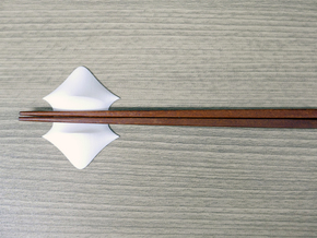 Chopsticks stand_canopy in White Strong & Flexible Polished