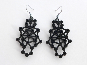 Amorphe Molecular Earrings - Chemistry Jewelry in Black Natural Versatile Plastic