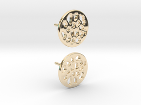EARRINGS STUD LOBULAR  in 14K Yellow Gold