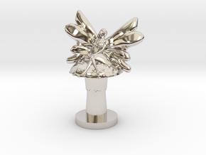 Fairy on Toadstool in Platinum